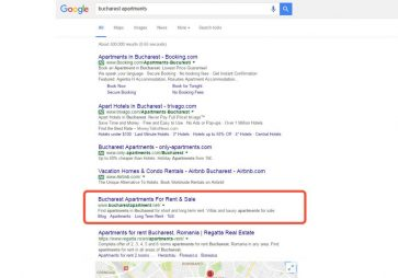 bucharest apartments keyword SERPs